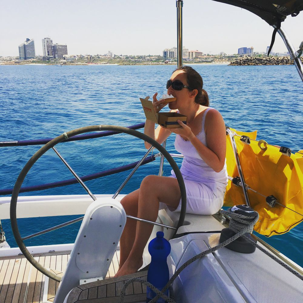 Eating our way through Israel - Travel with Penelope & Parker - Cake & Sailing