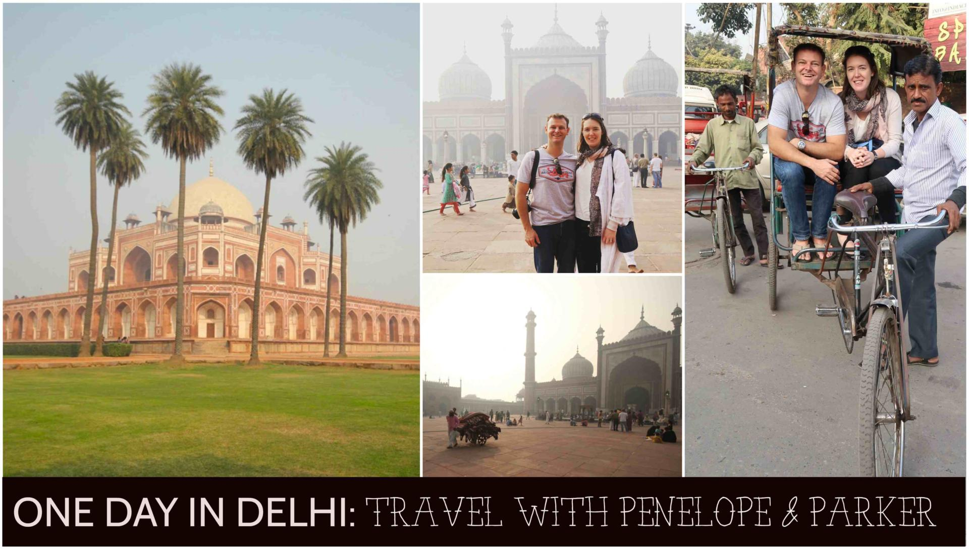 One day in Delhi - Travel with Penelope and Parker